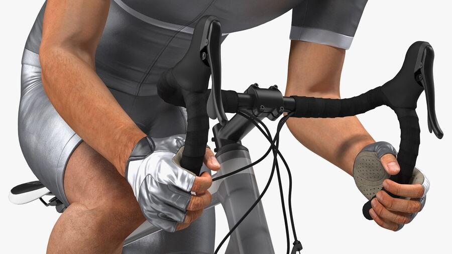 Bisikletçi Binme Bisikleti royalty-free 3d model - Preview no. 12