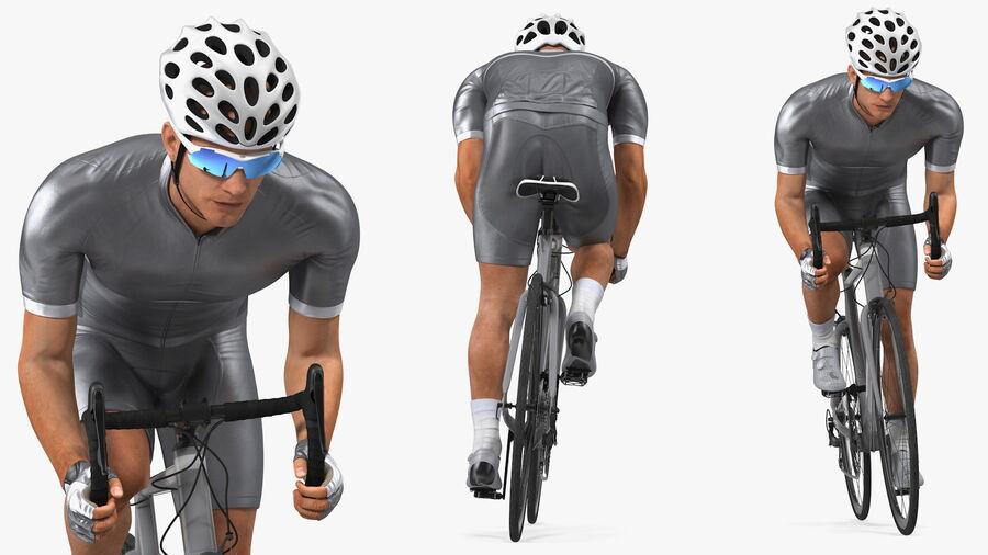 Bisikletçi Binme Bisikleti royalty-free 3d model - Preview no. 9