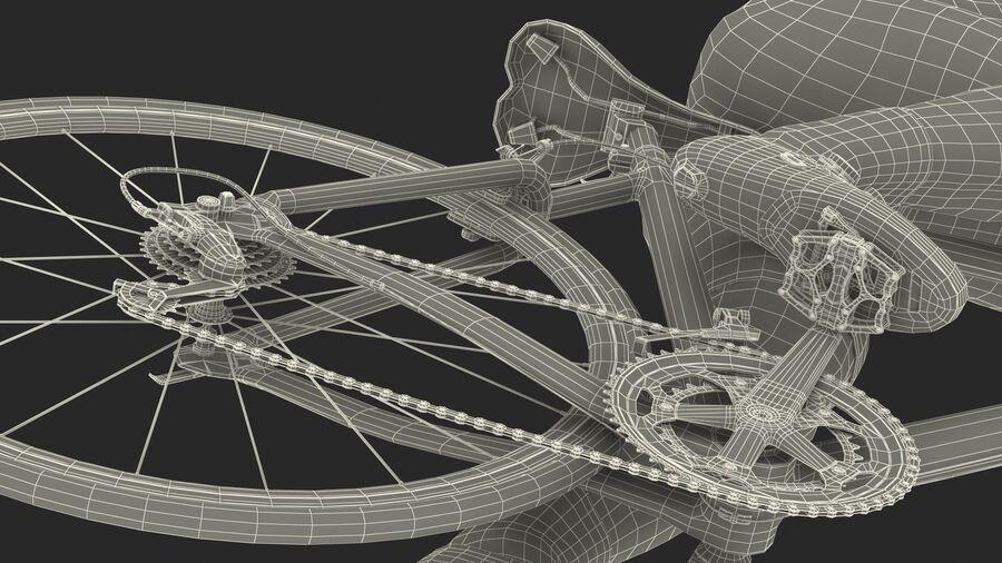 Bisikletçi Binme Bisikleti royalty-free 3d model - Preview no. 29