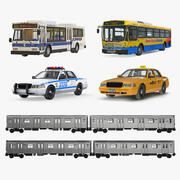 Collectie NHC Public Rigged Vehicles 2 3d model