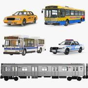Коллекция NHC Public Vehicles 2 3d model
