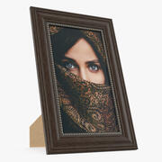 Photo Frame with Picture 3d model