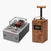 Collectie explosieve detonatoren 3d model