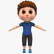Modelo do Cartoon Boy manipulado 3d model