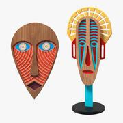 Dekoratif Tasarım Maskeleri Koleksiyonu 3d model