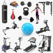 Kolekcja siłowni 5 3d model
