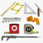 Coleção de ferramentas de medida 7 3d model