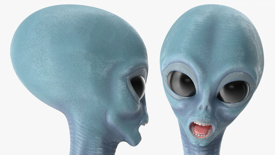 Space Alien with UFO Collection royalty-free 3d model - Preview no. 10