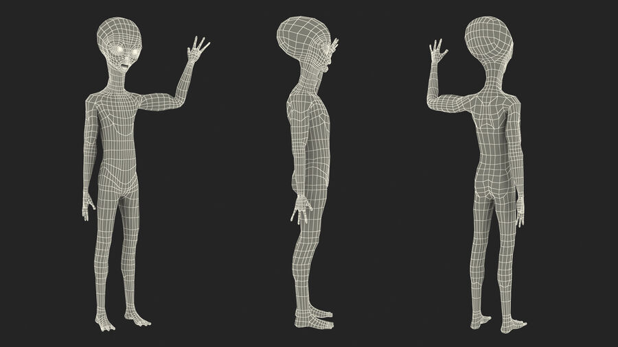 Space Alien with UFO Collection royalty-free 3d model - Preview no. 23