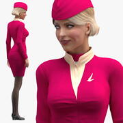 Stewardess Standing Pose 3d model