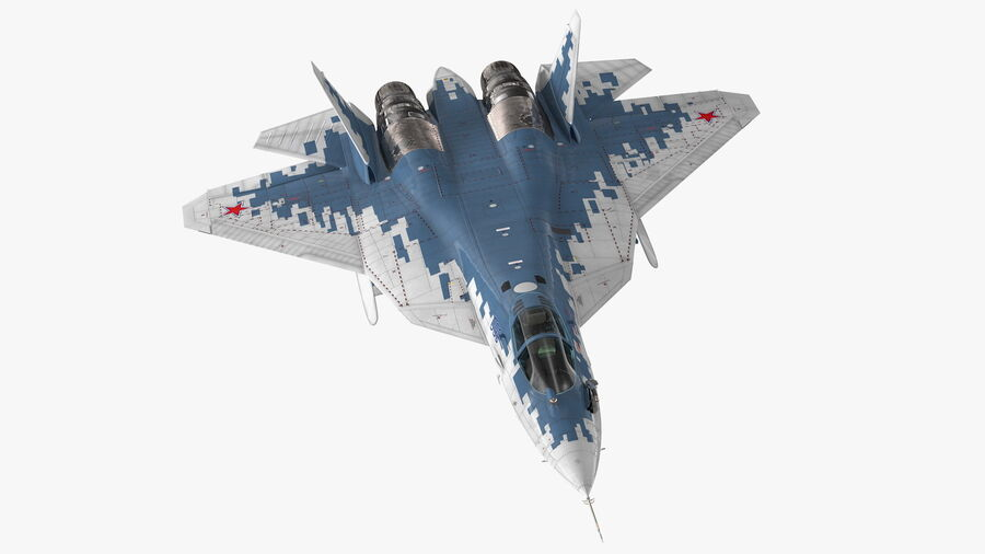 SU 57 Stealth Jet Fighter Pixel Camouflage Rigged 3D Model $199 - .max -  Free3D
