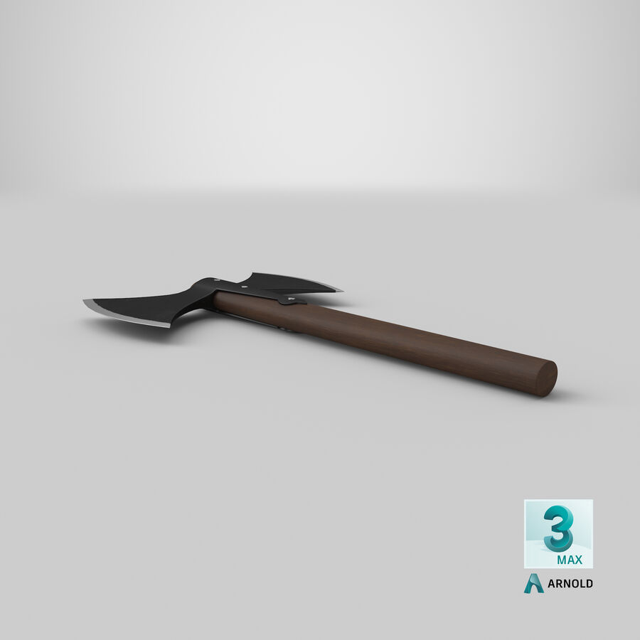 Throwing Double Bladed Axe royalty-free 3d model - Preview no. 5