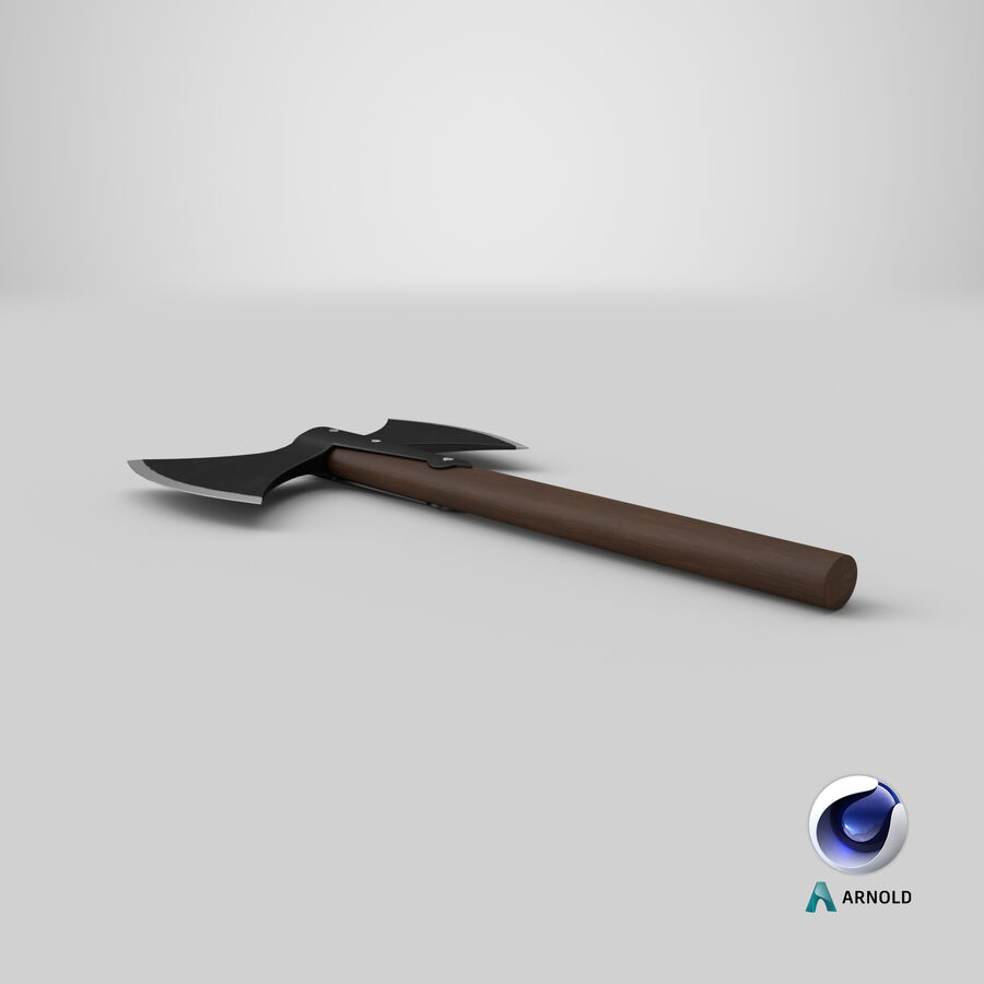 Throwing Double Bladed Axe royalty-free 3d model - Preview no. 2