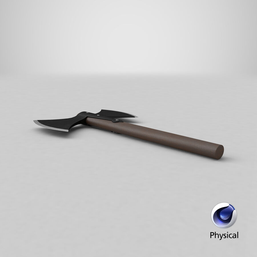 Throwing Double Bladed Axe royalty-free 3d model - Preview no. 1