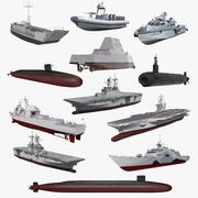 US Warships Collection 6 3d model
