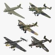 Kolekcja Vintage wojskowe bombowce 3d model