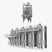 Kolekcja wyposażenia fabryki wina 3d model