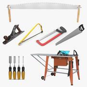 Kolekcja narzędzi do obróbki drewna 2 3d model