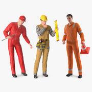 Kolekcja pracowników 3d model