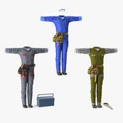 Kolekcja mundurów robotniczych 3d model