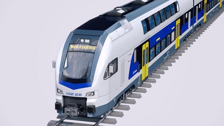 Stadler KISS Double Deck Train 3D-modell royalty-free 3d model - Preview no. 4