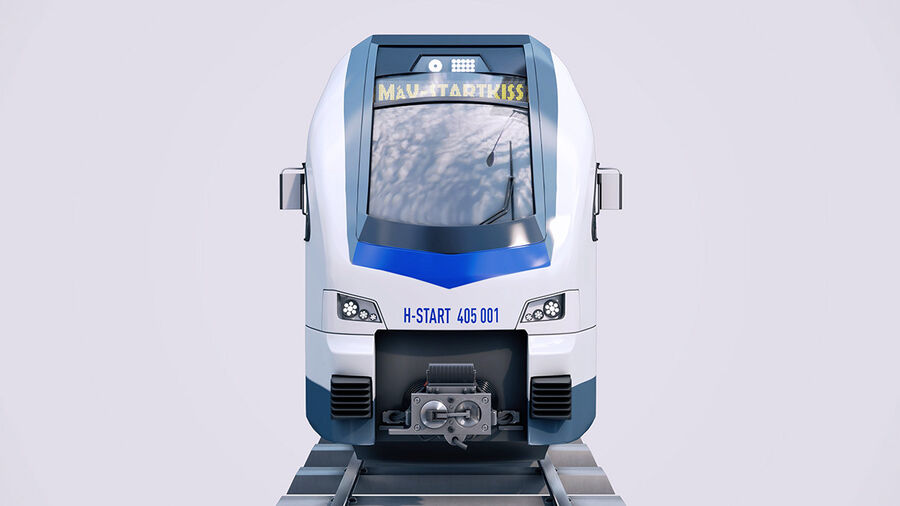 Stadler KISS Double Deck Train 3D-modell royalty-free 3d model - Preview no. 5