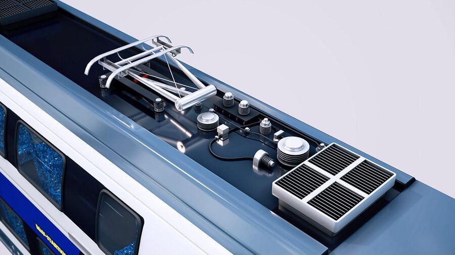 Stadler KISS Double Deck Train 3D-modell royalty-free 3d model - Preview no. 9