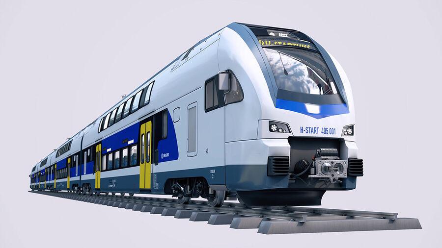 Stadler KISS Double Deck Train 3D-modell royalty-free 3d model - Preview no. 3