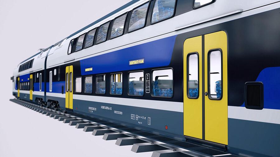 Stadler KISS Double Deck Train 3D-modell royalty-free 3d model - Preview no. 13