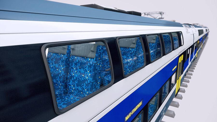 Stadler KISS Double Deck Train 3D-modell royalty-free 3d model - Preview no. 12
