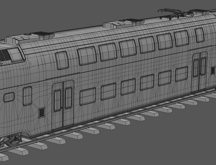 Stadler KISS Double Deck Train 3D-modell royalty-free 3d model - Preview no. 20