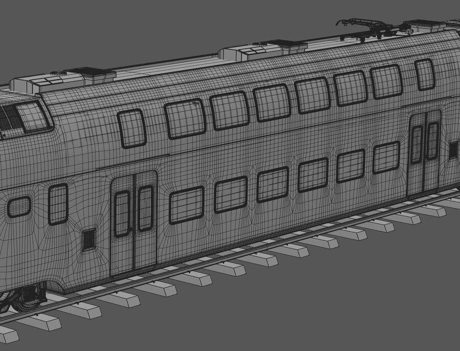Stadler KISS Double Deck Train 3D-modell royalty-free 3d model - Preview no. 19