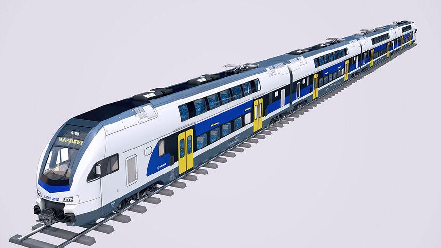 Stadler KISS Double Deck Train 3D-modell royalty-free 3d model - Preview no. 2
