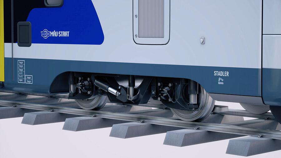 Stadler KISS Double Deck Train 3D-modell royalty-free 3d model - Preview no. 10