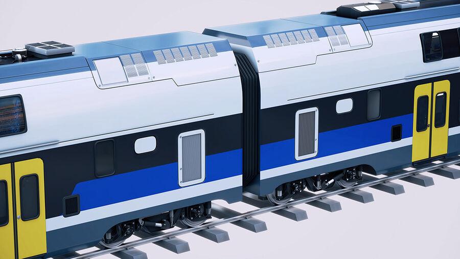 Stadler KISS Double Deck Train 3D-modell royalty-free 3d model - Preview no. 11
