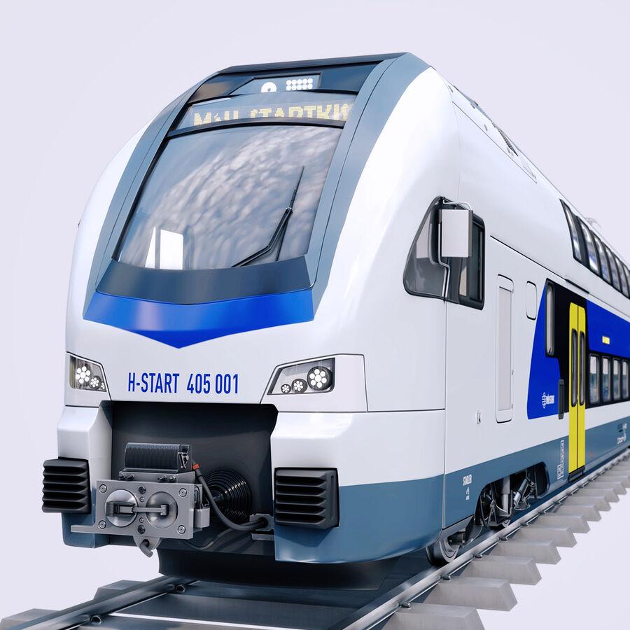 Stadler KISS Double Deck Train 3D-modell royalty-free 3d model - Preview no. 1