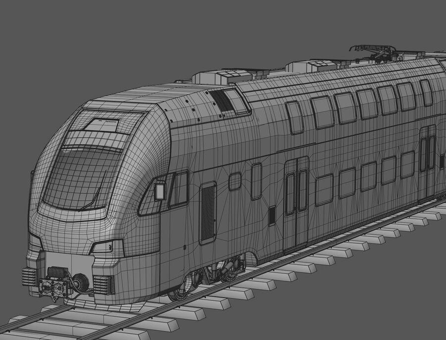 Stadler KISS Double Deck Train 3D-modell royalty-free 3d model - Preview no. 16
