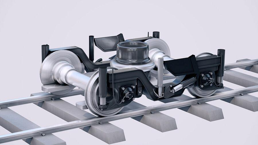 Stadler KISS Double Deck Train 3D-modell royalty-free 3d model - Preview no. 14
