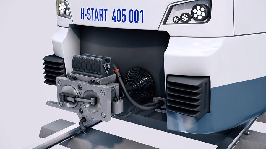 Stadler KISS Double Deck Train 3D-modell royalty-free 3d model - Preview no. 6