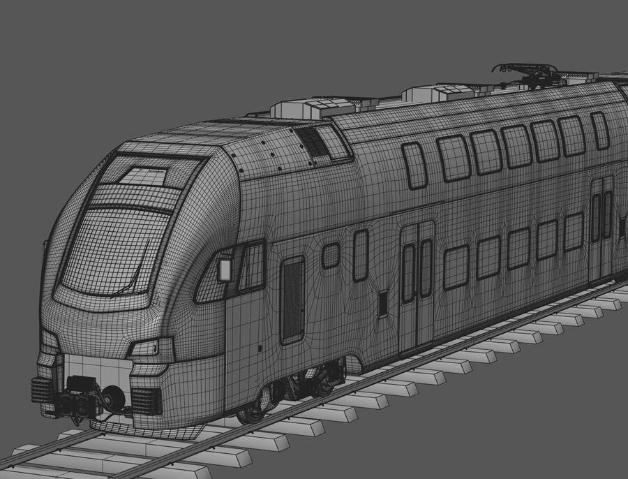 Stadler KISS Double Deck Train 3D-modell royalty-free 3d model - Preview no. 15