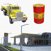 Shell Oil Collection 3d model
