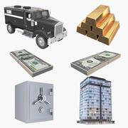 Finansiell insamling 3d model
