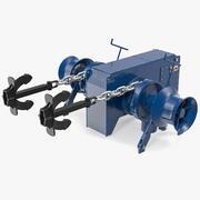 Morska winda kotwiczna 3d model