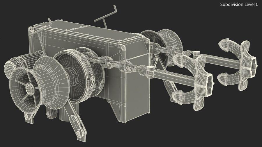 マリンアンカーウインドラス royalty-free 3d model - Preview no. 20