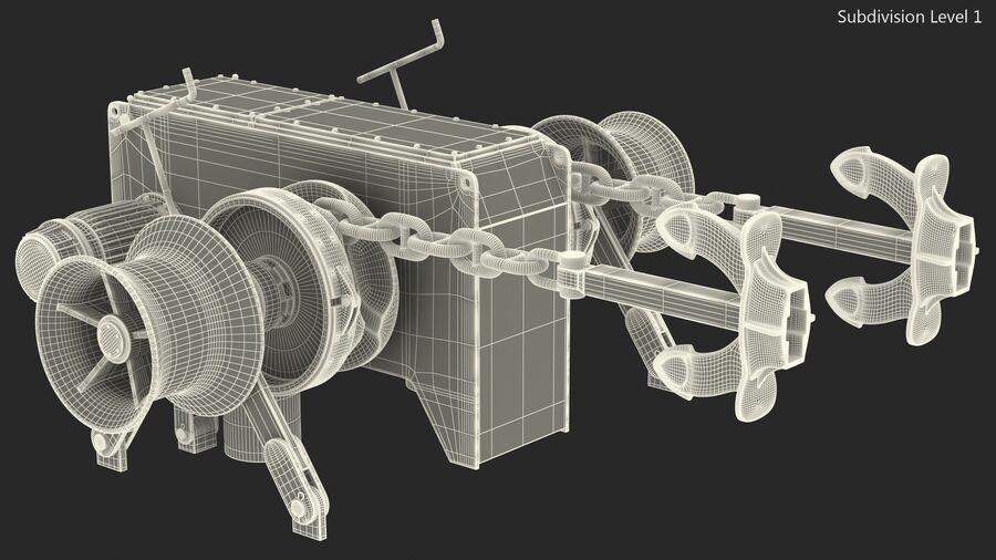 マリンアンカーウインドラス royalty-free 3d model - Preview no. 21