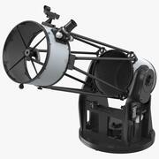 Truss Tube Dobsonian Telescope Rigged 3d model