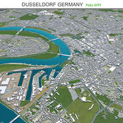 Дюссельдорф в Германии 3d model