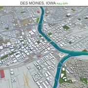 Des Moines City i Iowa 3d model
