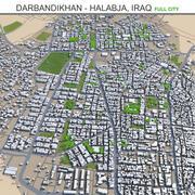 Darbandikhan and Halabja in Iraq 3d model