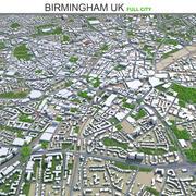 Birmingham City Storbritannien 3d model